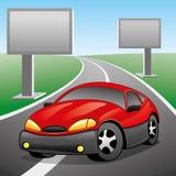 också vektor för coreldrawillustration Röd bil Arkivfoton