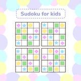 också vektor för coreldrawillustration Sudoku lek för barn med bilder journal Royaltyfria Bilder