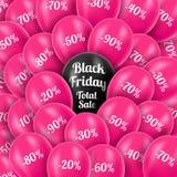också vektor för coreldrawillustration svarta friday Realistiska rosa färger Arkivbild