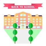 också vektor för coreldrawillustration tillbaka skola till plan orange rosa byggnad Arkivfoto