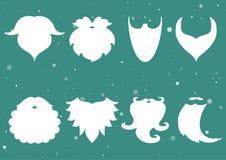 också vektor för coreldrawillustration Uppsättning av skäggen av Santa Claus _ royaltyfri illustrationer