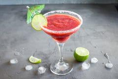 Ocktail de ¡ de margarita ou de daiquiri Ð de fraise photos libres de droits
