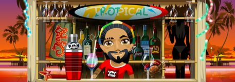 Ocktail tropical de  de Ñ Photographie stock