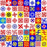 ockult runasymboler Arkivfoto