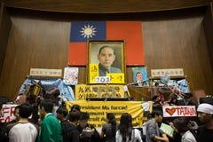 Ockupation av Taiwan den lagstiftnings- yuanen Royaltyfria Foton