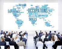 OckupationJob Careers Expertise Human Resources begrepp royaltyfria bilder