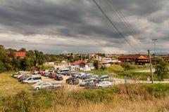 Ocna Sibiu, Roemenië Stock Afbeeldingen