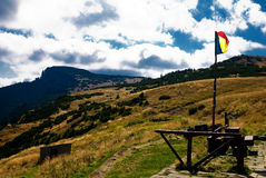 Ocolasul Mare viewed from Dochia. A beautiful landscape with Ocolasu mare in Ceahlau mountains, view from Dochia shelter Stock Image