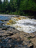 Ocqueoc Falls, Michigan. Beautiful Ocqueoc Falls in Ocqueoc, Michigan. Ocqueoc falls are the only known waterfall in the lower peninsula of Michigan Stock Photos