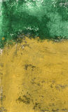 Ocra e verde strutturali fotografie stock libere da diritti