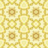 Ocraceo giallo beige del motivo a stelle regolare senza cuciture Immagini Stock Libere da Diritti