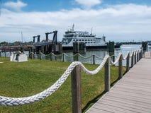 Ocracoke Ferryboat na Pólnocna Karolina Zewnętrznych bankach fotografia royalty free