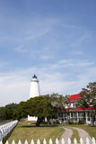 Ocracoke Island Light Station and Keeper House Royalty Free Stock Photos