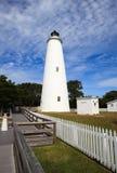 Ocracoke Latarnia morska Pólnocna Karolina Obrazy Stock