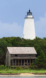 Ocracoke LIght and Beach House Stock Photo