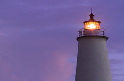 Ocracoke Light Shining at Dawn Stock Image