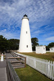 Ocracoke Lighthouse North Carolina. Ocracoke light station is the oldest lighthouse still operating in North Carolina.  Considered an inlet light rather than a Stock Images