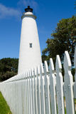Ocracoke lighthouse. On the outer banks North Carolina Royalty Free Stock Image