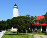 Ocracoke lighthouse. On the outer banks North Carolina Royalty Free Stock Photo