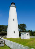 Ocracoke lighthouse. On the outer banks North Carolina Stock Image