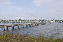 Ocracoke Marina Royalty Free Stock Photo
