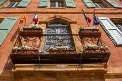 Ocre Old Provence Balcony Royalty Free Stock Images