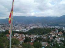 Ocrida - città sul lago fotografia stock libera da diritti