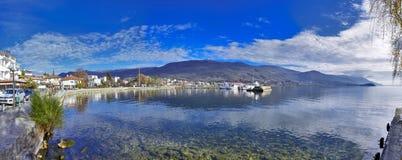 Ocrida, Macedonia - lago Ocrida immagine stock libera da diritti