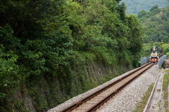 OCT East Shenzhen Meisha Tea Stream Valley curved extension of the forests in the mountains train railway Stock Image