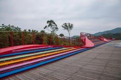 OCT East Shenzhen Meisha tea valley wetlands bridges Stock Photos