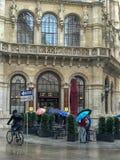 Cafe Central in Vienna, Austria, on a rainy day. Oct 2017: The entrance of Cafe Central in Vienna, Austria, on a rainy October day stock photos