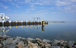 Oct 7, 2015 Lewes Delaware: Ferry dock at Lewes Delaware. Royalty Free Stock Images