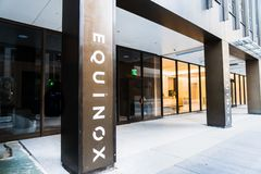 Oct 26, 2019 San Francisco / CA / USA - Upscale gym Equinox located in SoMA District; Equinox is a subsidiary of Equinox Fitness,