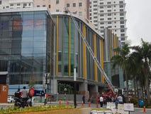 5 Oct 2016 Subang Jaya, Maleisië De Brandoefeningsoefening bij Tophotel Subang werd USJ gedaan vanochtend royalty-vrije stock foto