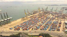 2016-Oct Time lapse of Singapore cargo terminal. Time lapse of Singapore cargo terminal. one of the busiest ports in the world stock video