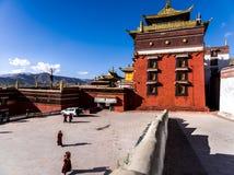 A temple in Rikaze, Tibet, Zhashilunbu Temple stock photos