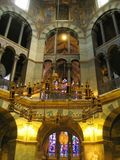 Octagon of Aachen Cathedral, Germany royalty free stock image