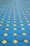 Octagon brick floor tile Royalty Free Stock Photo