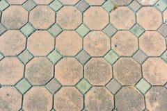 Octagon Brick walkway Royalty Free Stock Image