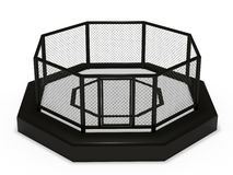 Octagon cage front view Stock Photo
