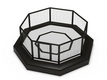 Octagon cage. On white background stock illustration