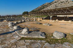 Octagon church in the archeological area of ancient Philippi, Greece Royalty Free Stock Photos