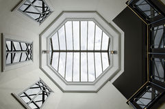 Octagon glass ceiling Royalty Free Stock Image