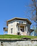 Octagon House. This is a Spring picture of the Smith-Connor House located in Rock Island, Illinois and known as the Octagon House.  The house was designed by Royalty Free Stock Images