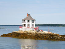 Octagon Nubble House. The Nubble lcoated off Bustin's Island in Maine Royalty Free Stock Image