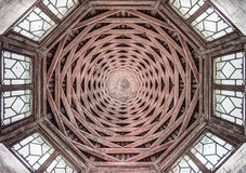The octagon old wooden roof Royalty Free Stock Photo