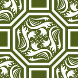 Octagon pattern Stock Image