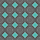 Octagon pattern. Including seamless sample in swatch panel Royalty Free Stock Photo