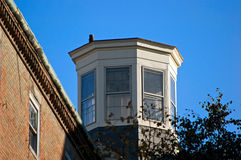 Octagon room. Stands high above the brick and trees of beacon hill boston massachusetts Stock Photo