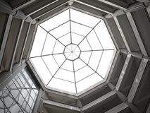 Octagon Skylight. A dome in the shape of an octagon with a glass ceiling Stock Images